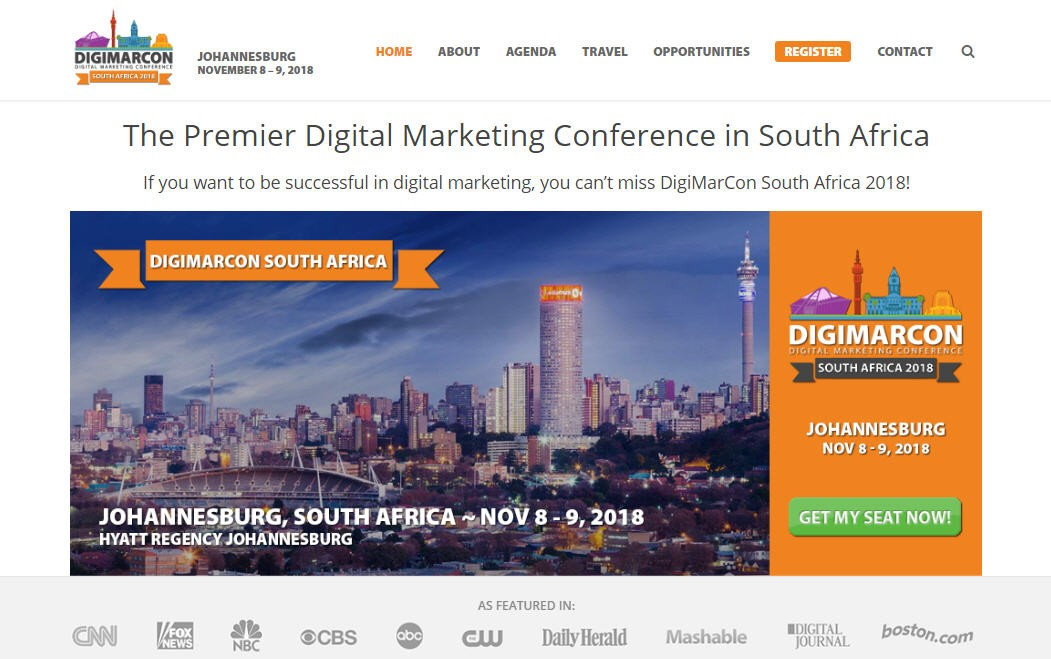 DigiMarCon 2018 at the Hyatt Regency on 8th & 9th November 2018